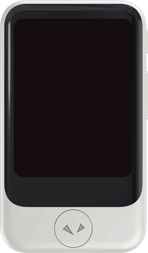 Front view of Pocketalk device.